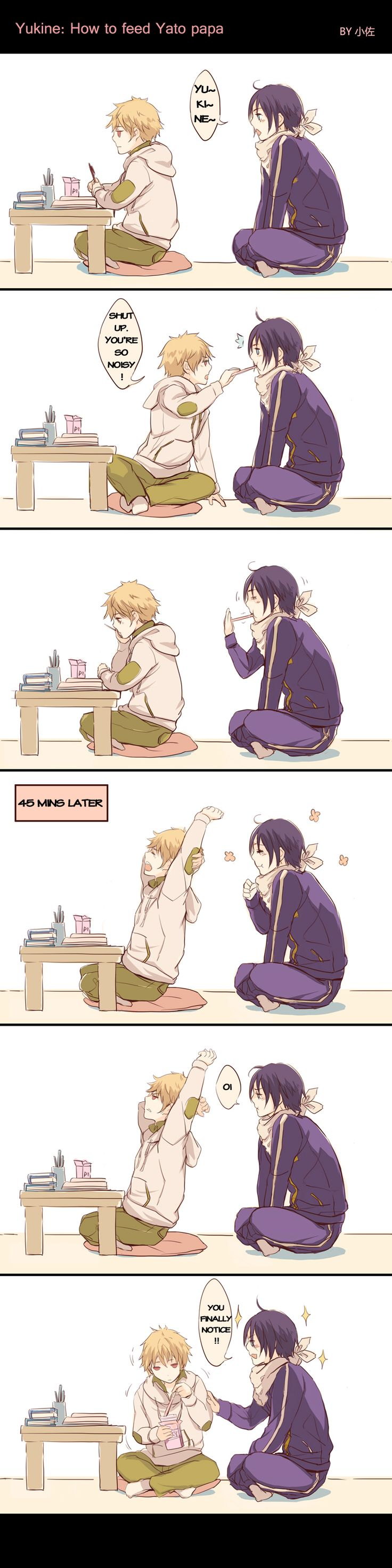 Yukine and Yato + pocky   #Noragami