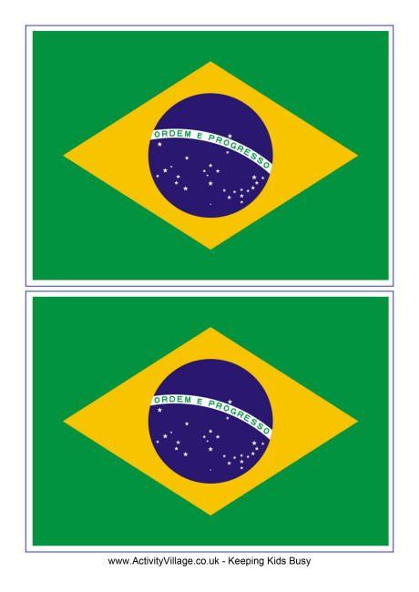 Brazil flag printable