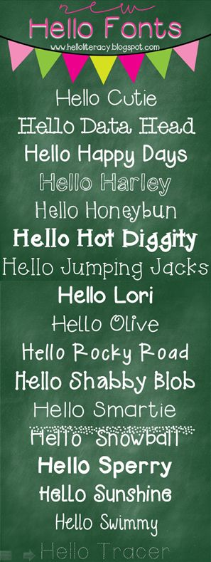 17 new Hello fonts by Jen Jones