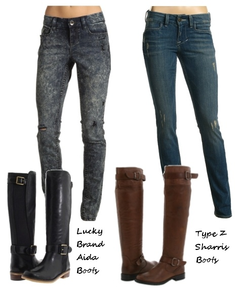 Rider boots & skinny jeans