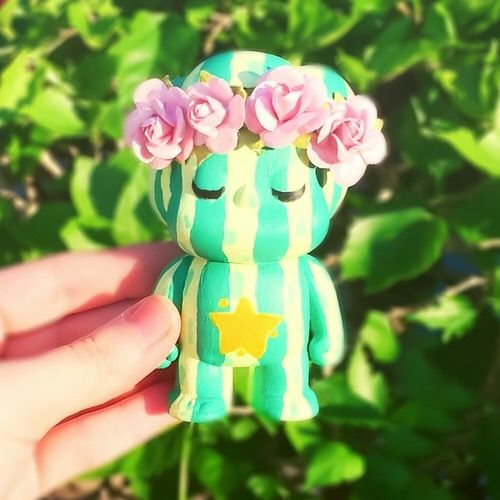 Hand painted Steven Universe Pop figure - watermelon Steven