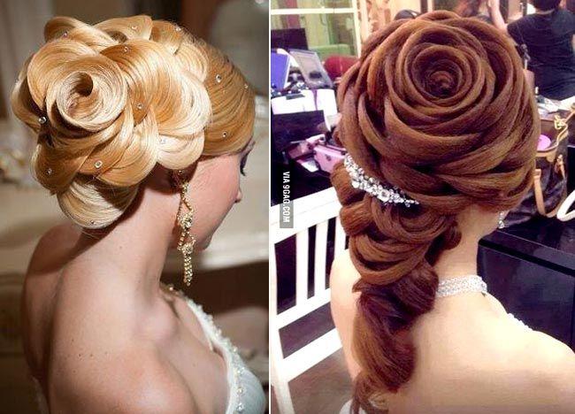 шикарные вечерние прически роза из волос