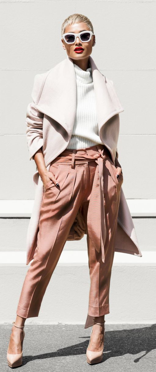 Shades Of Pink Winter Outfit by Micah Gianneli