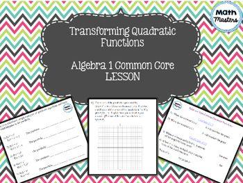 Transform Quadratic Functions/Parabolas