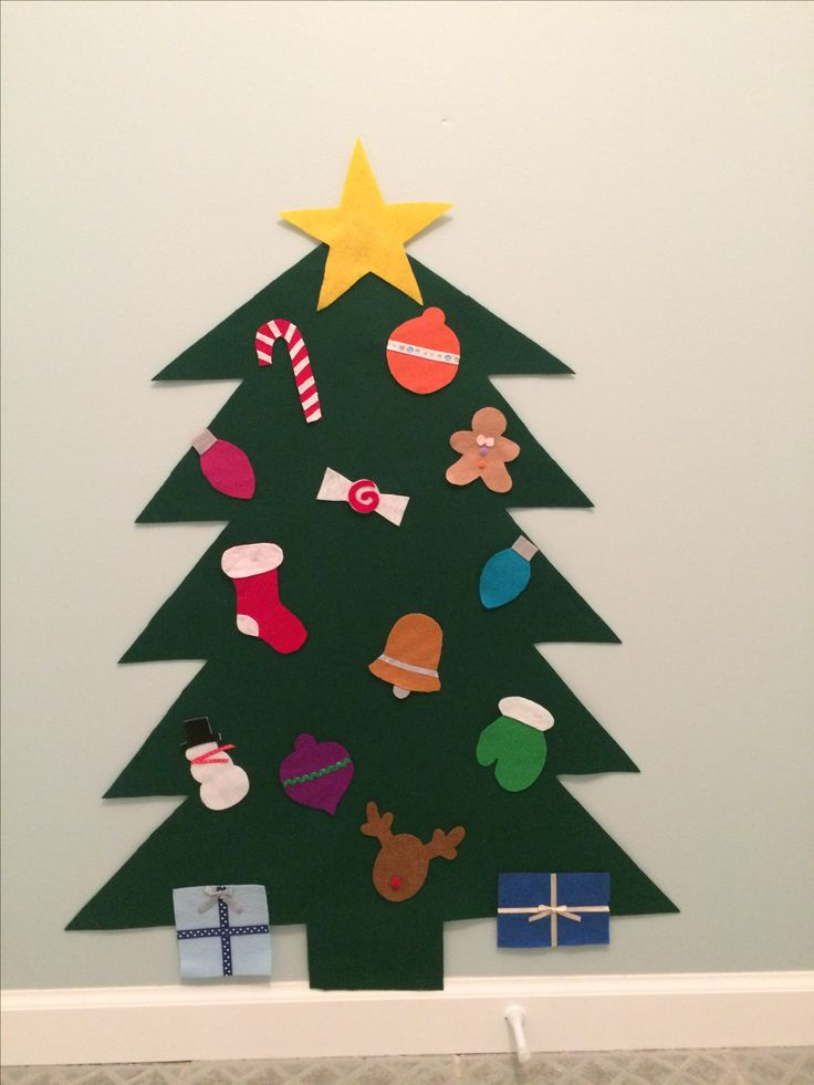Felt Christmas Tree- perfect for toddlers!