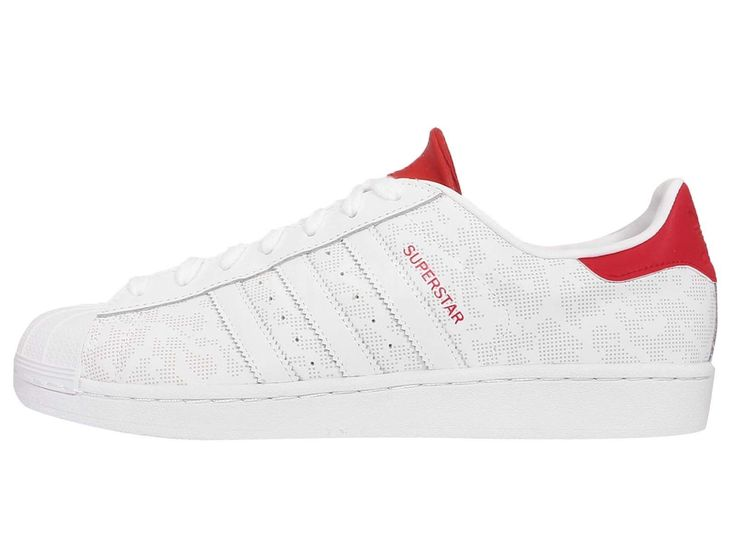 Adidas Superstar Camo 15 White/Red Debossed Dot Leather originals Trainers  B33825
