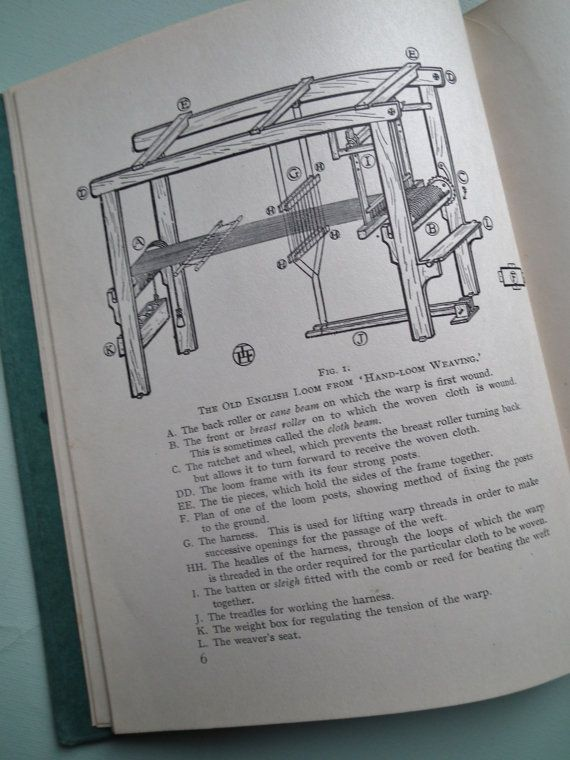 Antique Weaving Book  Weaving For Beginners by by sewmuchfrippery