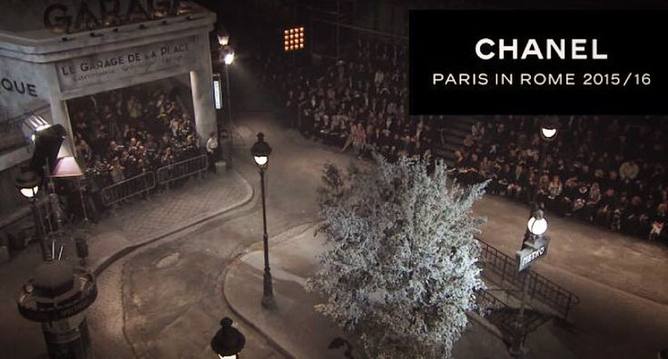 CHANEL PARIS IN ROME 2015/16  #chanel #studio5 #location #transformed_in_the_city_Paris #cinecitta #rome #parade #ParisInRome #beautiful #fashion #show #stylist @karllagerfeld #top #man #logo @chanelofficial #pinterest #instagram #foursquare #swarm #tumblr #twitter #followme