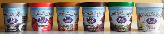 Arctic Zero Ice Cream- 150 calories per pint, high protein, high fiber, low sugar
