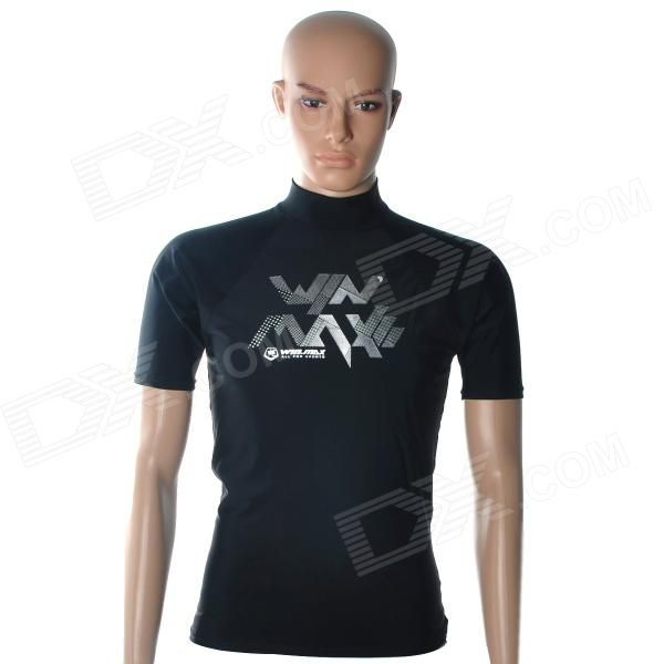 Brand: Weimasi; Model: WMB07958; Quantity: 1; Color: Black; Material: Spandex + nylon; Size: S; Gender: men's; Other Features: Avoid sun exposure and UV 50+ ultraviolet protection; Wear comfortable, flexible breathable clothing, colorfast and shrink-proof; Suitable for swimming or beach activity; Packing List: 1 x Swimwear; http://j.mp/1ljPIZM