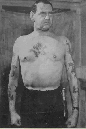 "King Frederick IX of Denmark - ""the tattooed king"" : my great grandpa was his personal chef, just saying"