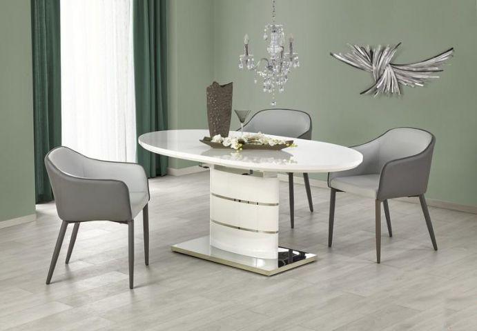 Stół drewniany ASPEN to idealny mebel do nowoczesnej jadalni. Biały błyszczący blat stołu wykonany został z wysokiej jakości lakierowanej płyty MDF, która cechuje się dużą wytrzymałością oraz łatwością w pielęgnacji. https://mirat.eu/stoly-drewniane,c123.html