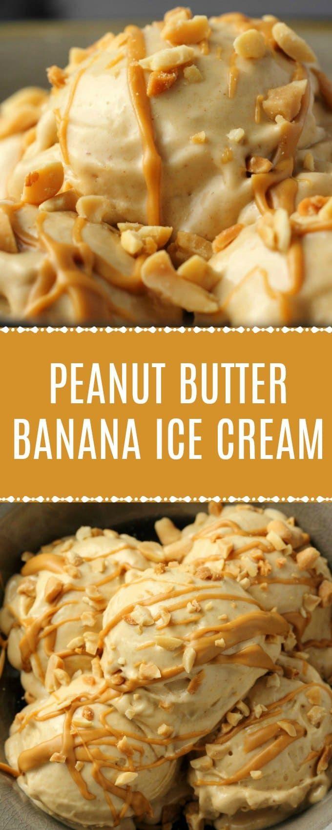 Peanut Butter Banana Ice Cream – 2 Ingredients