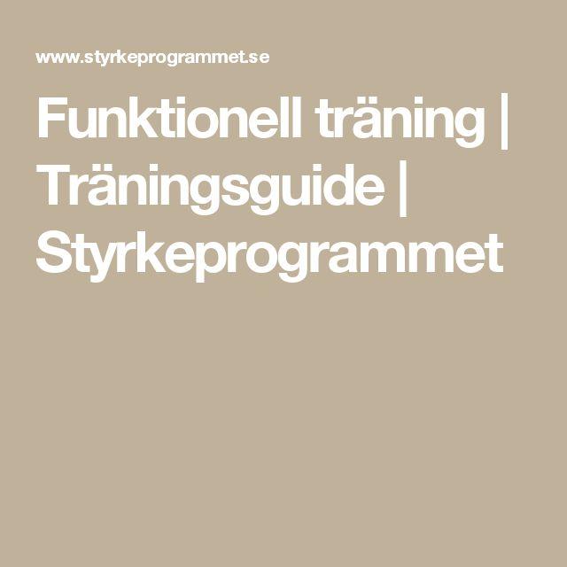 Funktionell träning | Träningsguide | Styrkeprogrammet