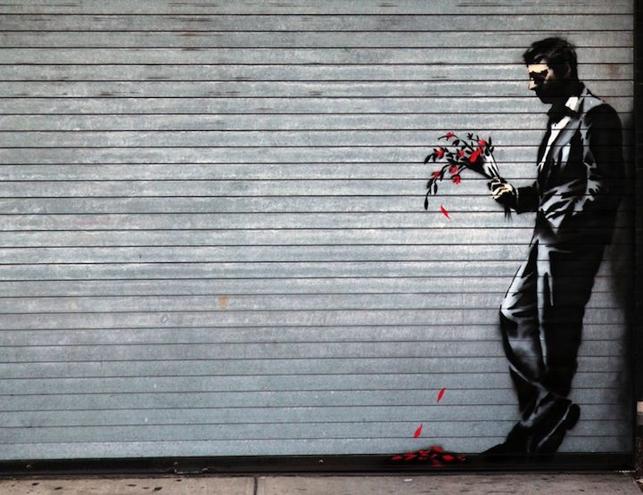 New Banksy Piece Shows a Man Waiting in Vain | News Design List