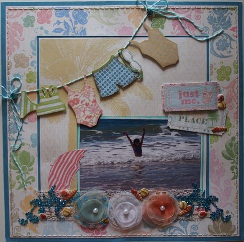 Just me page created with Webster's Pages, Palm Beach collection by Teena Hopkins for My Scrappin' Shop.