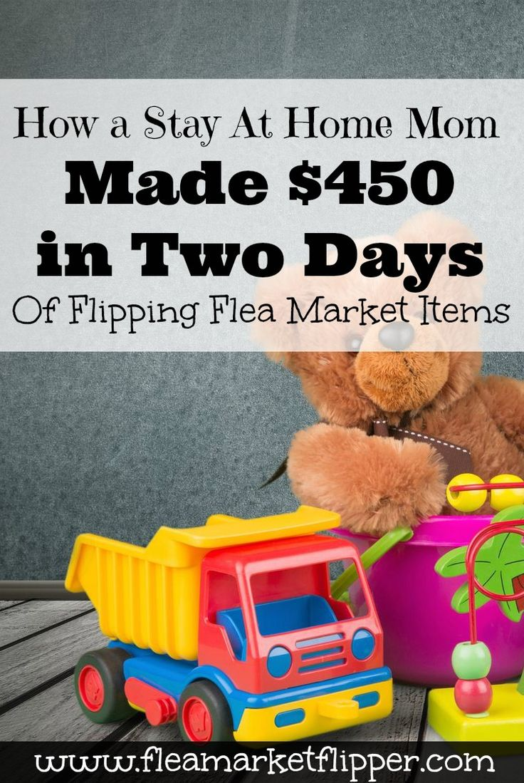 Reselling baby items online can be a great way to make some extra money!