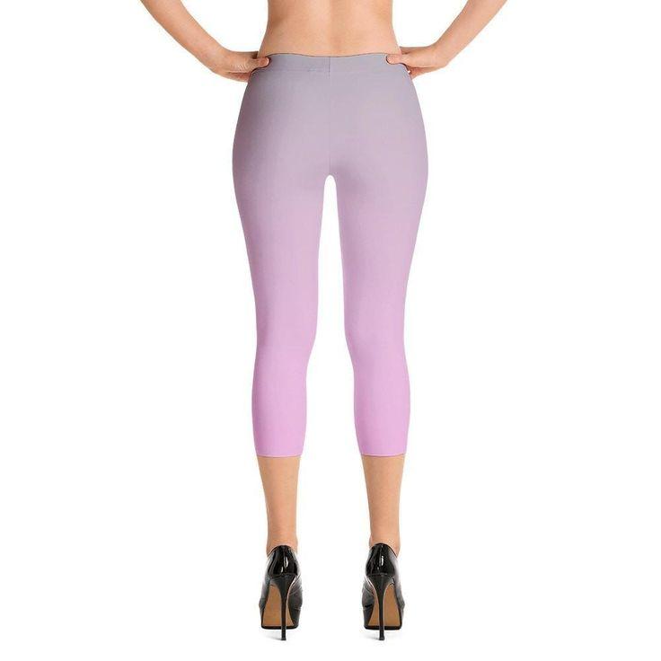 Grey to Pink Capri Leggings