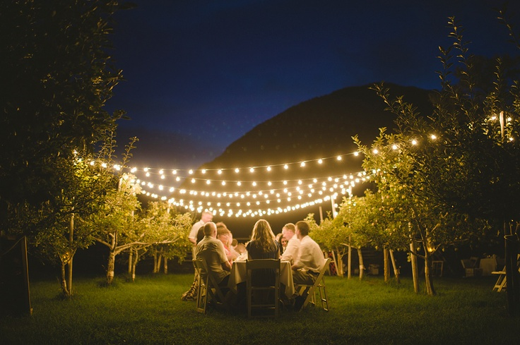 "Outdoor wedding reception from a wedding in Keremeos. Keremeos is located in the Okanagan, about 5 hours drive from Vancouver. The theme for this wedding was ""A Midsummer Night's Dream"".    #wedding #DIY #weddingphotography"