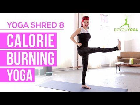 Calorie Burning Yoga - Day 8 - 14 Day Yoga Shred Challenge - YouTube