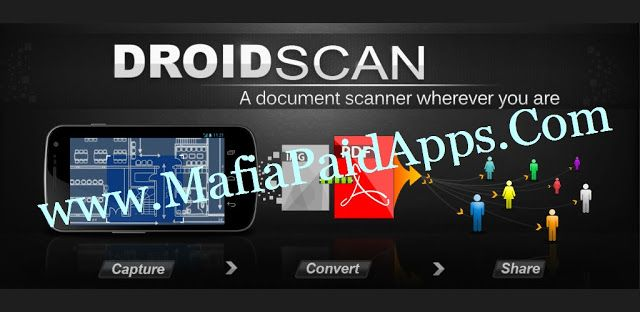 Droid Scan Pro PDF v6.1 Apk   Droid Scan is a mobile app that turns your phone or tablet into a portable document scanner. With Droid Scan you can transform images captured with your camera into professional multi-page PDF documents in just a few clicks.   Please try free version first (Droid Scan Lite) to make sure this app is compatible with your device.   24 hour money back guarantee. Email support@droidscan.com if you are not satisfied.  Droid Scan Pro has these unique state of the art features:  - Batch processing including turbo capture and batch convert so that multi-page documents can be created with just a few taps.  - Document shape recognition for perfectly shaped professional-looking scans in standard formats like US Letter US Legal A4 A3 etc.  - Support for architectural and engineering paper sizes.  - Ultra high resolution scans that preserve most of the pixels in the original photo after conversion and enhancement.  - Built-in integration with Box OneCloud.  - Compatible with most cloud storage providers including Box and Dropbox.  Turn your mobile phone into a document scanner that goes where you go. Convert any snapshot into a highly readable JPEG or PDF by fixing geometry contrast and color.  Record business cards white boards full page documents and receipts. On-phone conversion: complete confidentiality no subscription fees.  Multiple resolutions available from low-res suitable for quick sharing via email to highest fidelity reproductions suitable for OCR and printed copy.  Automatic recognition of document shapes like US Letter A4 Business card and more.  Easy creation of multi-page PDF documents and ZIP files using the built-in scan gallery.  Share via Gmail Drive Box Dropbox and many more.   Scanning sensitive documents? You're safe. See detailed information about privacy:  What permissions are used for:  FULL INTERNET ACCESS: Uploading images to a web service; sending anonymous statistics about app use to Google Analytics.  MODIFY/DELETE USB 