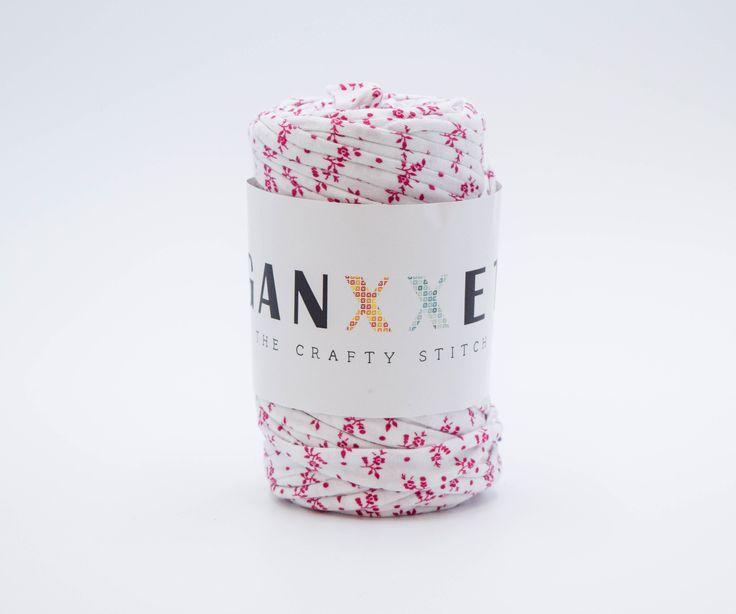 GANXXET Fabric Yarn - Flaça ( white with little flower print )