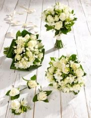 Buy on-line White Rose and Freesia Wedding Collection http://www.weddingheart.co.uk/marks-and-spencer---wedding-flowers.html