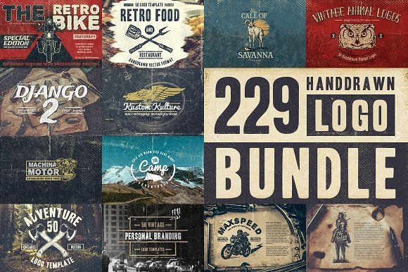 229 Handdrawn Logo Bundle by TSV Creative on @creativemarket