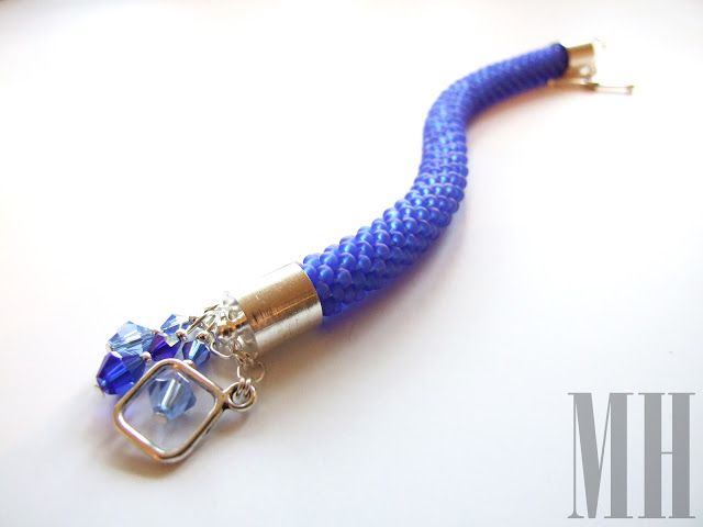 polandhandmade.pl  #polandhandmade #jewellery Niebieska bransoletka | MH Biżuteria - cuda ręcznie wykonane