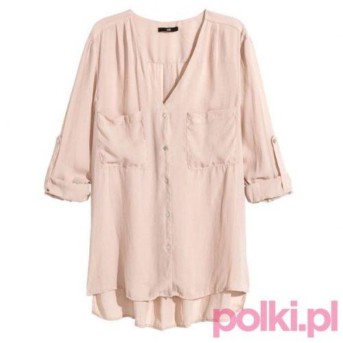 Różowa koszula, H&M #polkipl