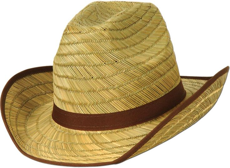 Genuine Cowboy Hat with Brown Trim & Band - 60 Units
