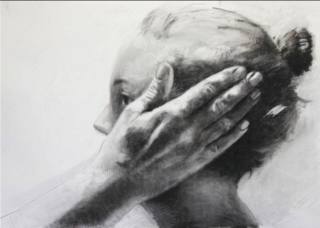 """Tanya Poole, """"Untitled (hand on side of face)"""" 2013"""