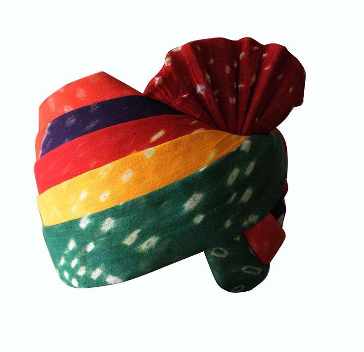 Chunari Safa Pagri Men Hat Turben Maroon Safa Special Indian Handmade Halloween #Handmade