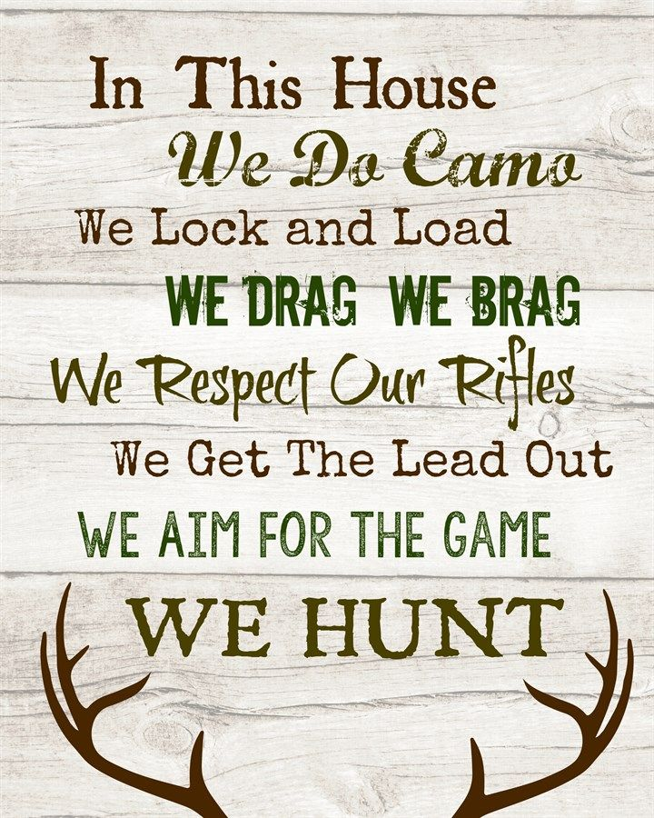 In this House....We Hunt | Family Prints | Jane