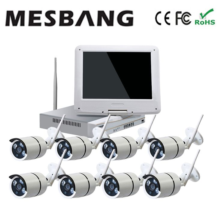 Mesbang 960P shop office home wireless ip camera system  8ch nvr 10inch monitor  delivery by DHL Fedex free shipping #Affiliate