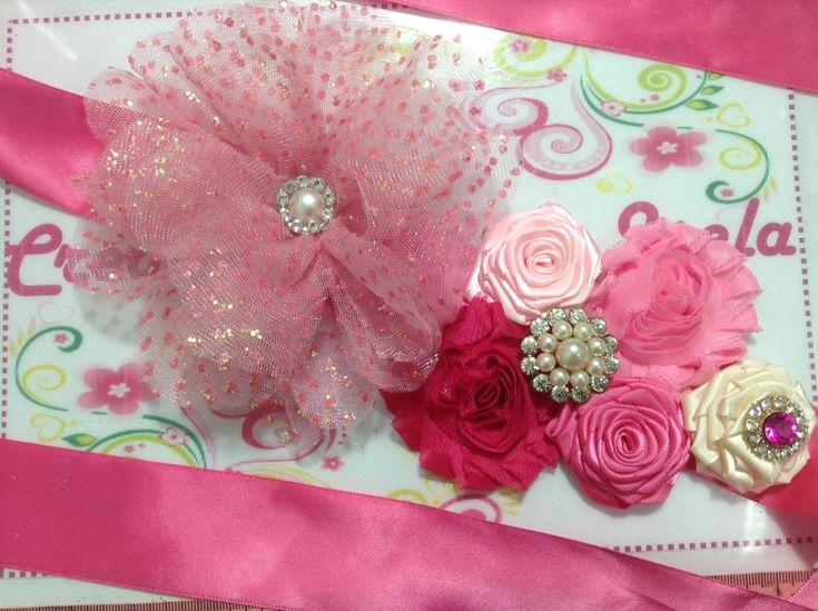 Cintillo de flores para embarazadas    VIDEO No. 234