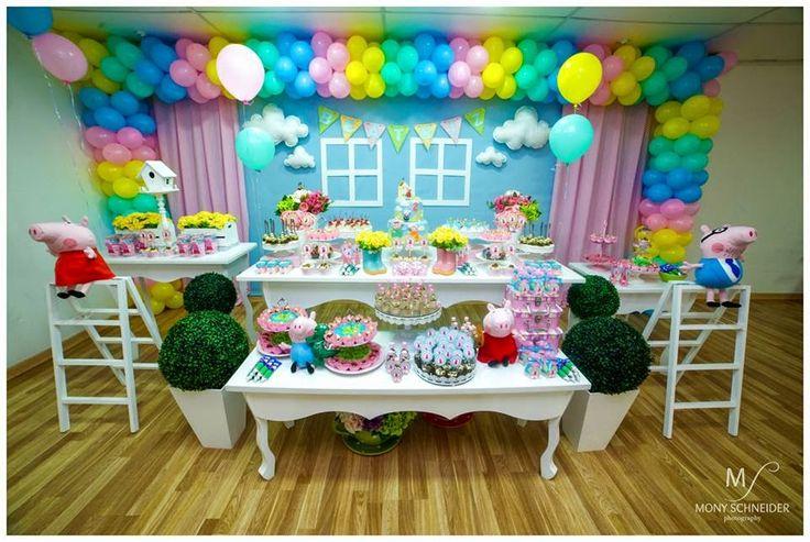 Buffet Oficina das Festas: Peppa Pig da Beatriz 2 anos