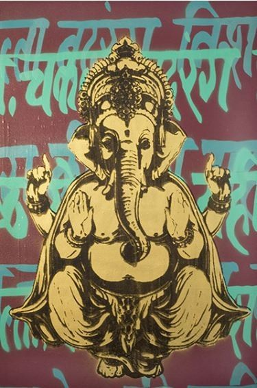 Two of my favorite things; Ganesha (remover of obstacles) and street art!