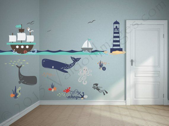 Ship Adventure Nursery Decals Nautical Wall Decor
