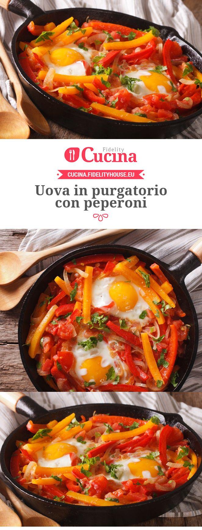 Uova in purgatorio con peperoni