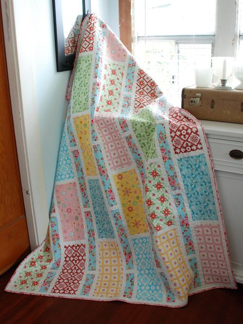 Stripe Blocks - Love the 30s inspired reproduction prints in this quilt