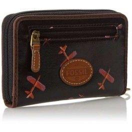 Carteira Fossil Keyper Ziper Wallet Feminina Legítima