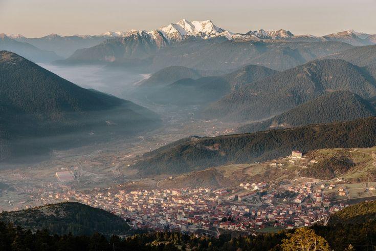 The beautiful town of Karpenisi