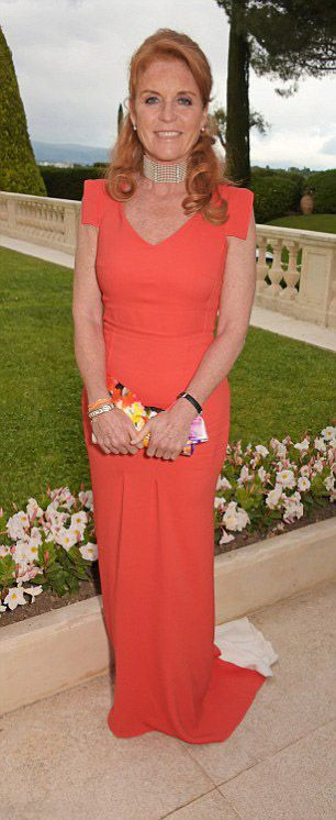 Sarah, Duchess of York dazzled in the dress again in May last year, The Duchess wore the dress to an event when she partied with Paris Hilton at the amfAR gala in Cannes. On each of the occasions Sarah has added a statement accessory in the form of a bright floral printed silk clutch.