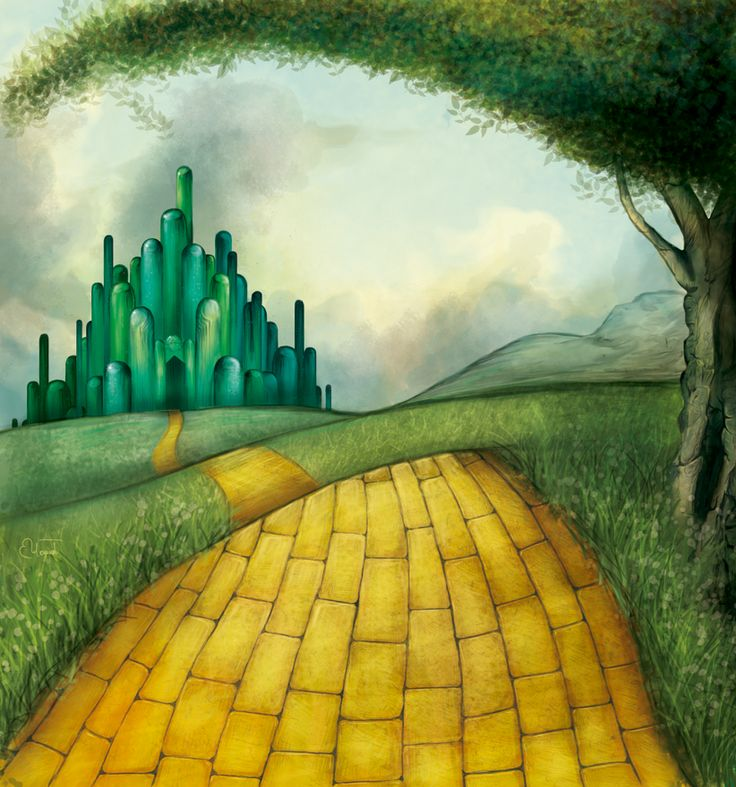 Yellow brick road by ~boop-boop on deviantART