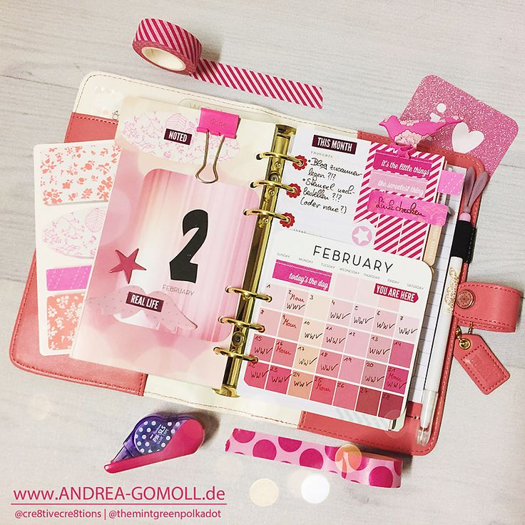 Creative Creations by Andrea Gomoll | Planner Eyecandy – sharing some current Planner Pages and new Planner Stickers | http://andrea-gomoll.de