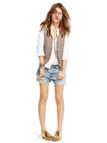 Herringbone Linen-Wool Vest - Denim & Supply  Jackets - RalphLauren.com