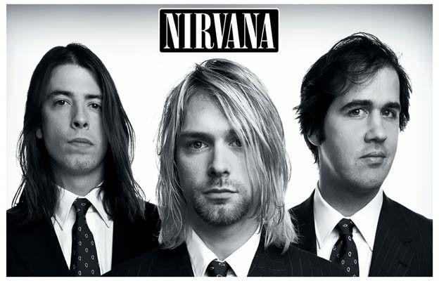 Nirvana Look Sharp! Band Portrait Kurt Cobain Music Poster 11x17