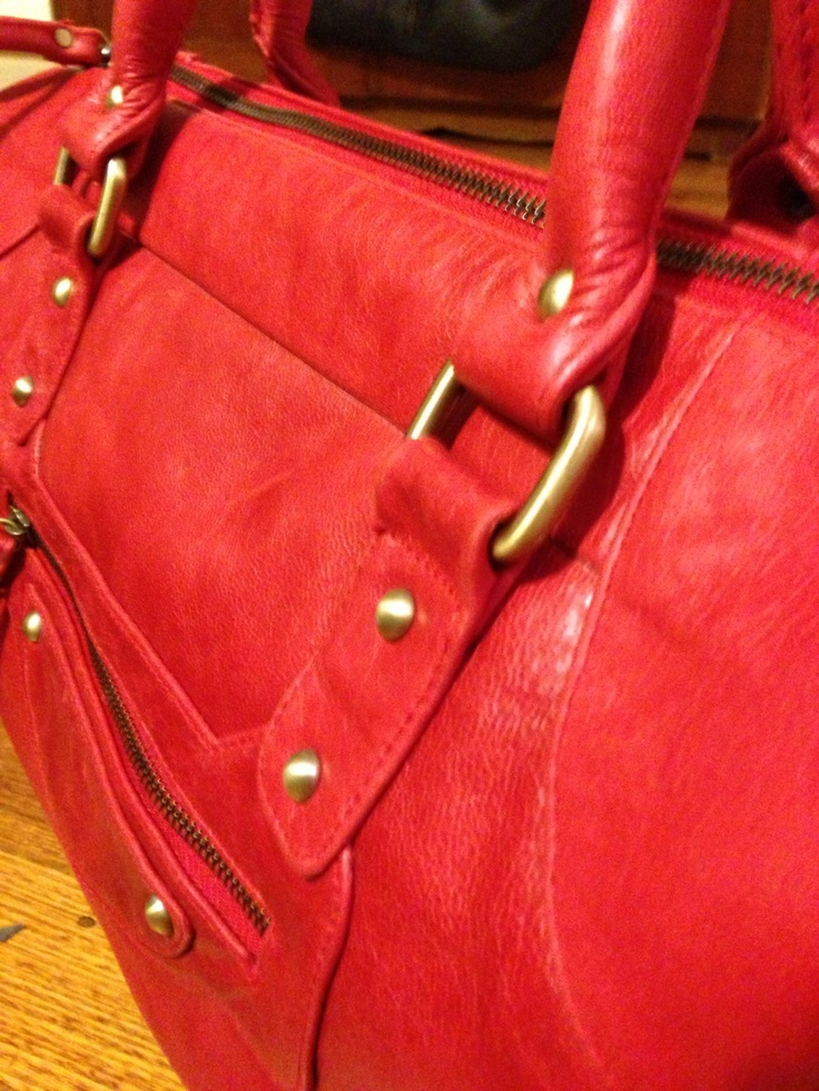 B R O O K L Y N  Cherry Red Antique Leather Brass Hardware Detail AVAILABLE SOON WWW.IMPERIALHYDE.COM.AU