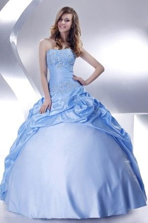 Thin Winter Strapless Long Beading Lace-up Sleeveless Fall Misses Quinceanera Dress